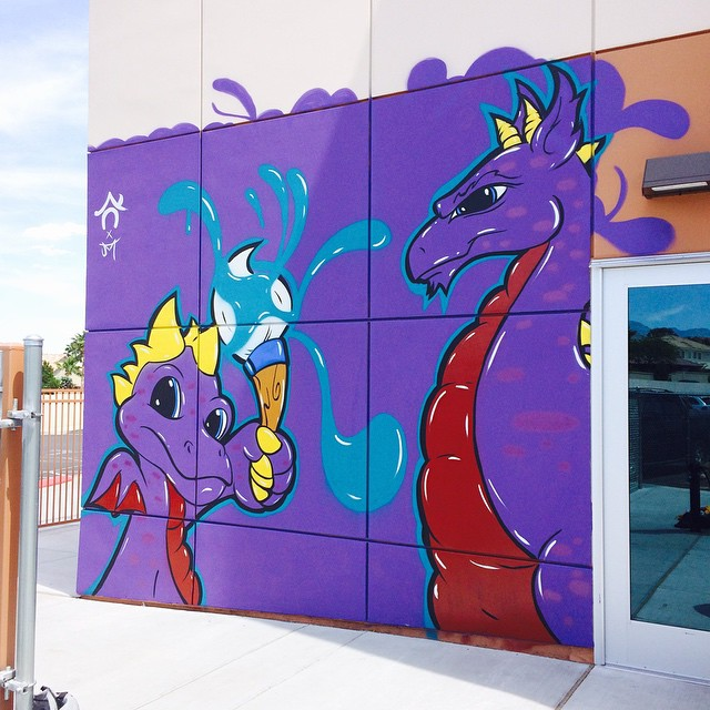 New Juan Muniz Mural + #DoWork Graphics for Students at Doral Academy Arts Immersion School!