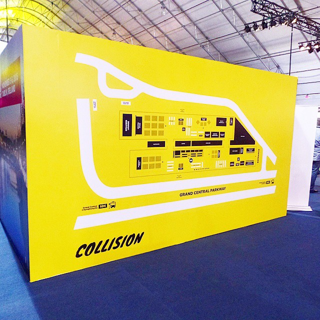Custom Wall-to-Wall Graphics for Collision Conference 2015 in Las Vegas! #CollisionConf