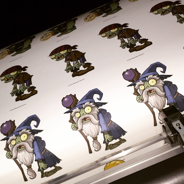 Plants vs. Zombies Wall Graphics for PopCap Games at the Licensing Expo in Las Vegas #Licensing15