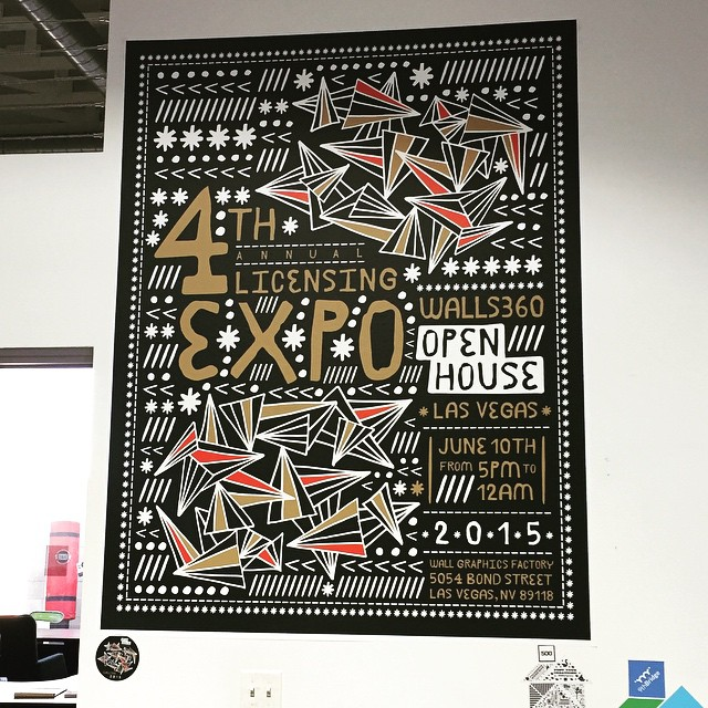 Custom Wall Graphics for Las Vegas Artists + Startups at the Walls360 #Licensing15 Open House