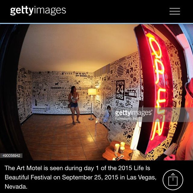 BEGSONLAND custom Big Wall Graphics for the ART MOTEL at the Life is Beautiful Festival in Downtown Las Vegas