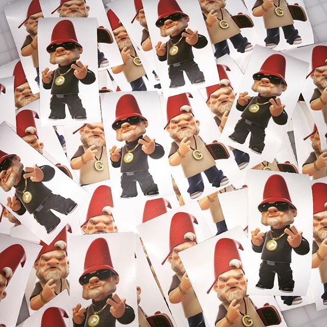 Walls360 custom #GnomeBoys wall graphics for Bigshot Toyworks at Designer Con #DCon2015