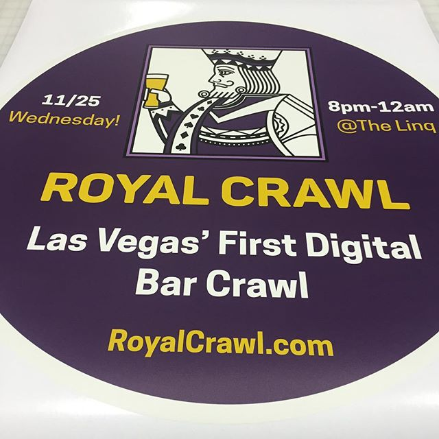 Walls360 custom promotional graphics for #RoyalCrawl Las Vegas