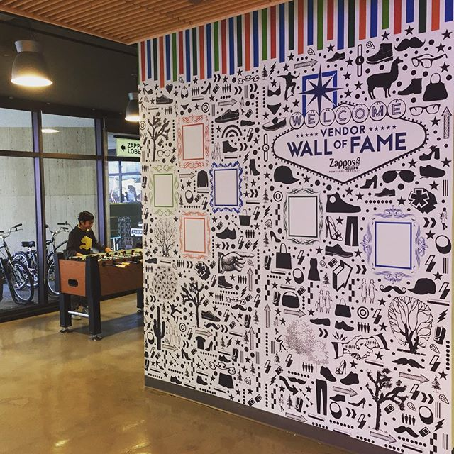 Walls360 custom COLORING wall graphics for Zappos