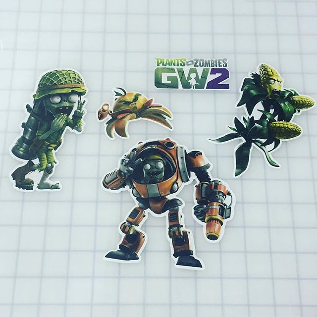 Plants vs. Zombies Garden Warfare 2 wall graphics from Walls360 #PvZGW2