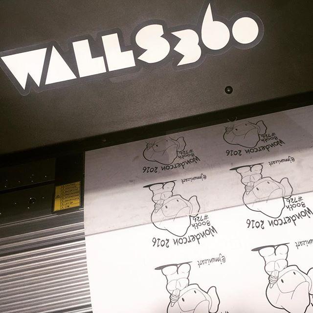 Walls360 custom COLORING wall graphics for Juan Muniz at #Wondercon2016