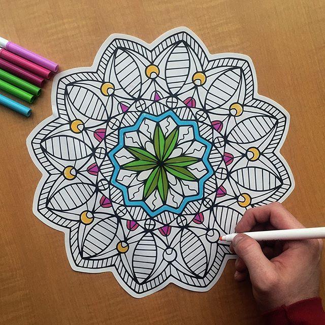Caleb Gray Studio coloring wall graphics from Walls360 #ColoringParty