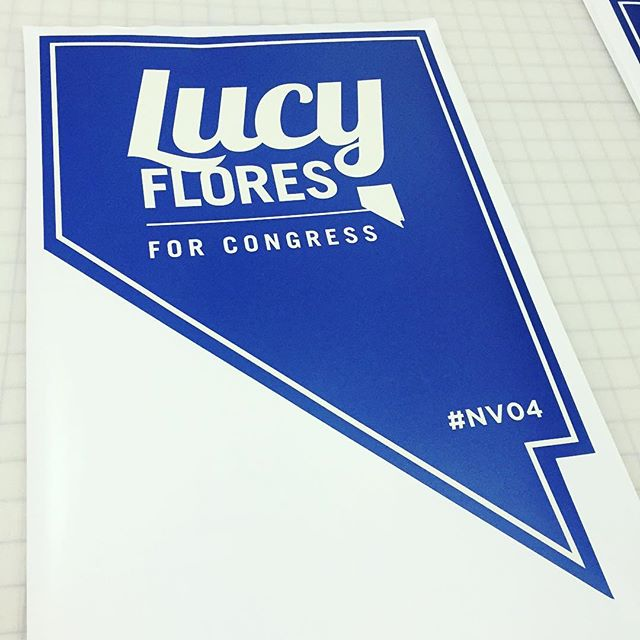 Custom political campaign wall graphics for Lucy Flores for Congress #NV04