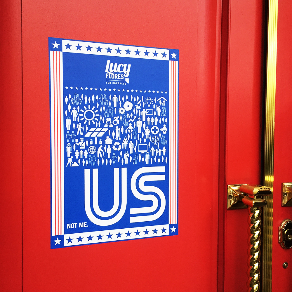 Custom wall graphics for Lucy Flores for Congress #NV04