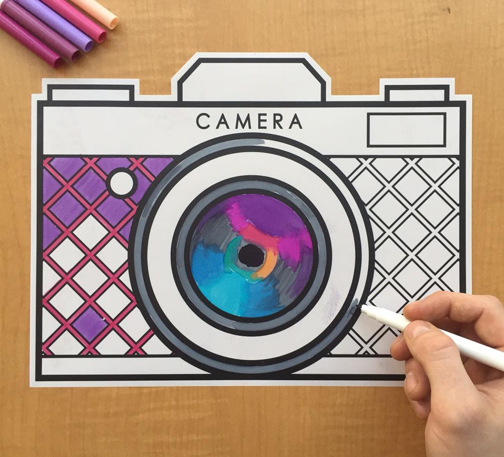Caleb Gray Studio coloring wall graphics from Walls360