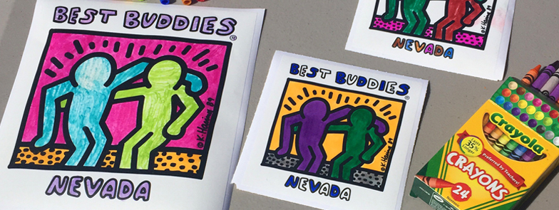 Best Buddies COLORING PARTY at the Walls360 Las Vegas Wall Graphics Factory: May 21, 2016