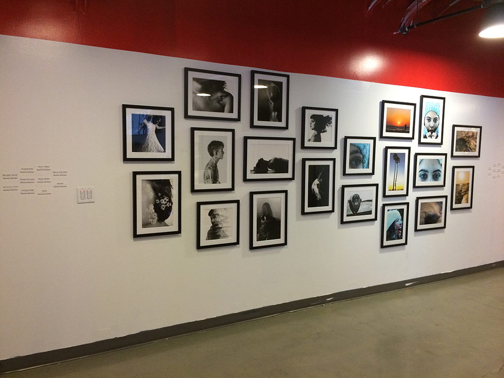Custom wall graphics for Las Vegas Academy of the Arts exhibition at Zappos #ZapposCulture