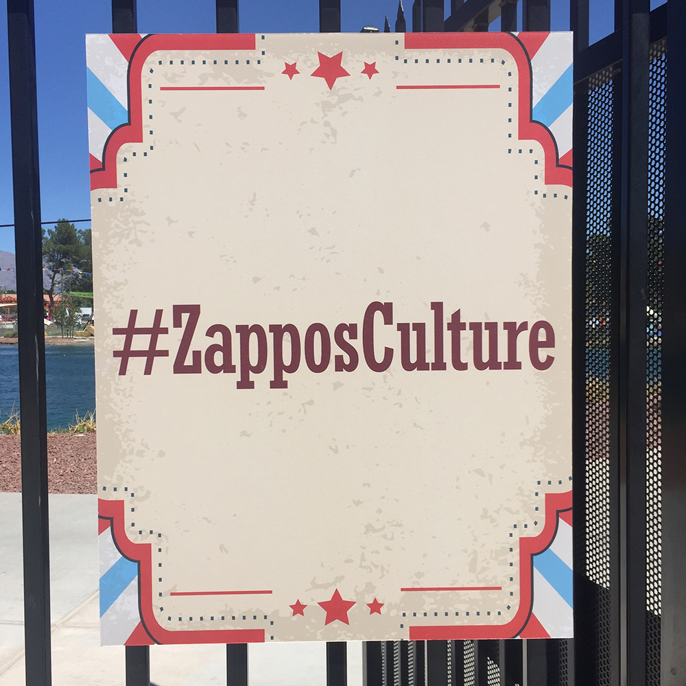 Custom wall-to-wall graphics for Las Vegas Academy art exhibition at Zappos