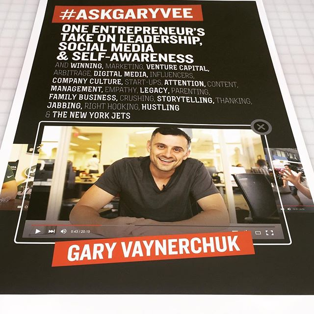 Walls360 custom wall graphics for Gary Vaynerchuk + VaynerMedia #AskGaryVee