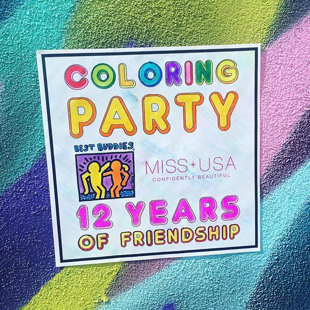Best Buddies Nevada + Miss USA Coloring Party #BestBuddiesNV #MissUSA