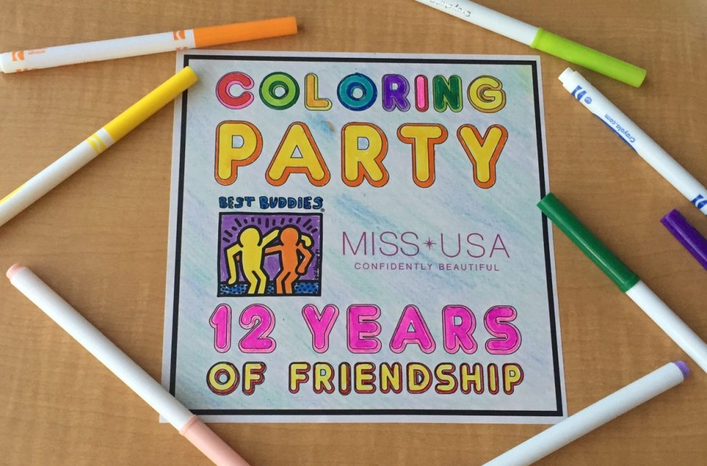 Best Buddies Nevada Coloring Party with MISS USA #BestBuddiesNV