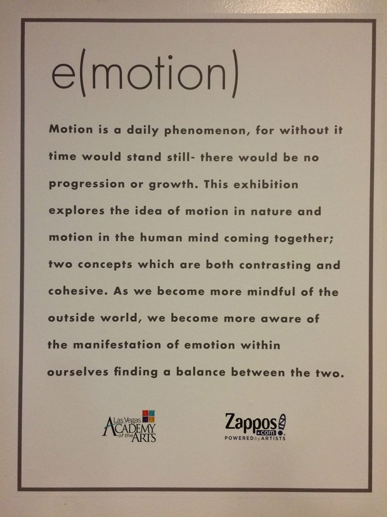 Custom wall graphics for the Las Vegas Academy of the Arts exhibition at Zappos #ZapposCulture