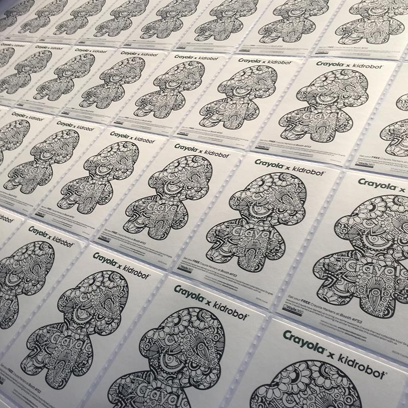 Walls360 custom COLORING wall graphics for Crayola x Kidrobot at #LicensingExpo16