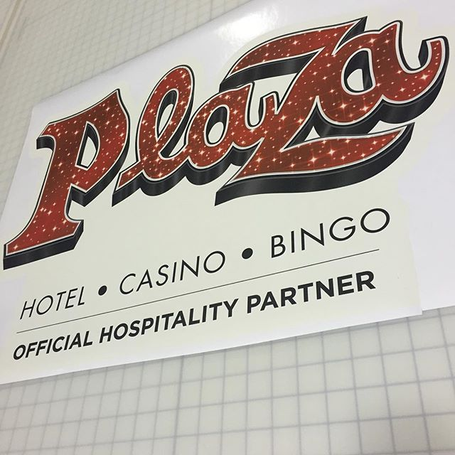 Custom Wall Graphics for the Plaza Hotel and Casino in Downtown Las Vegas #Walls360 #LasVegas
