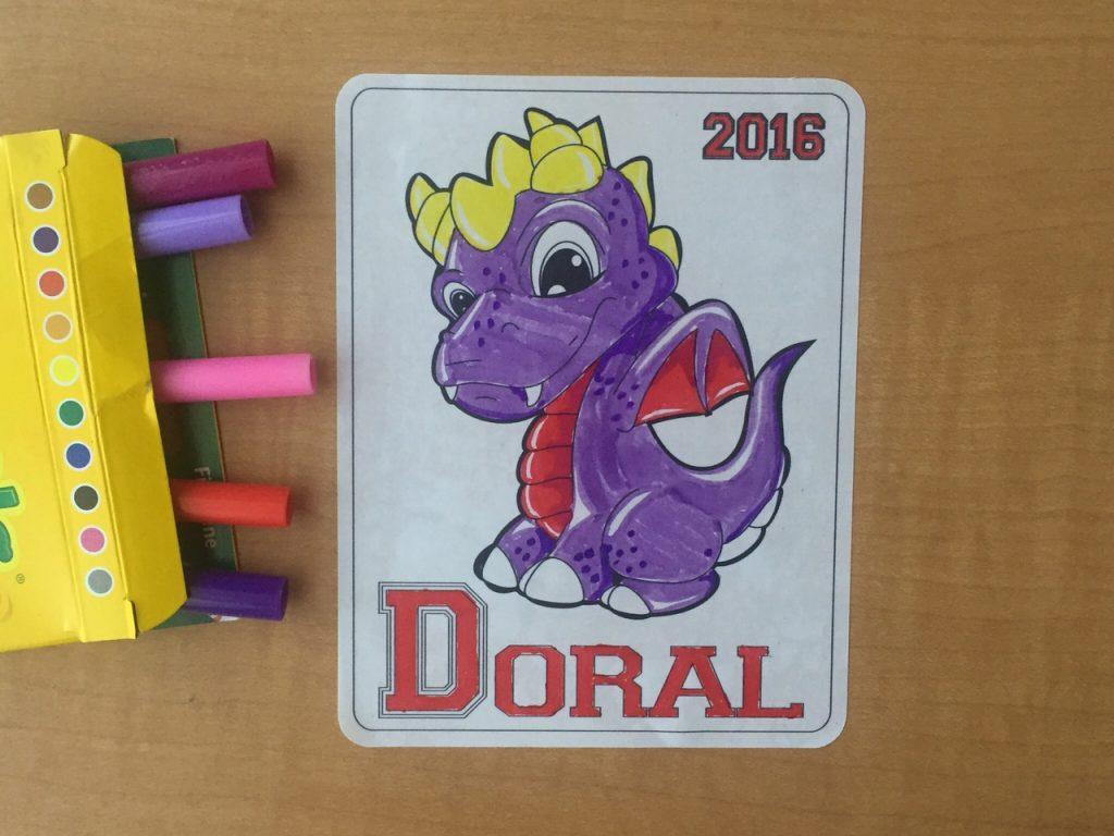 Walls360 custom COLORING wall graphics for Juan Muniz + Doral Academy #DoralDragons