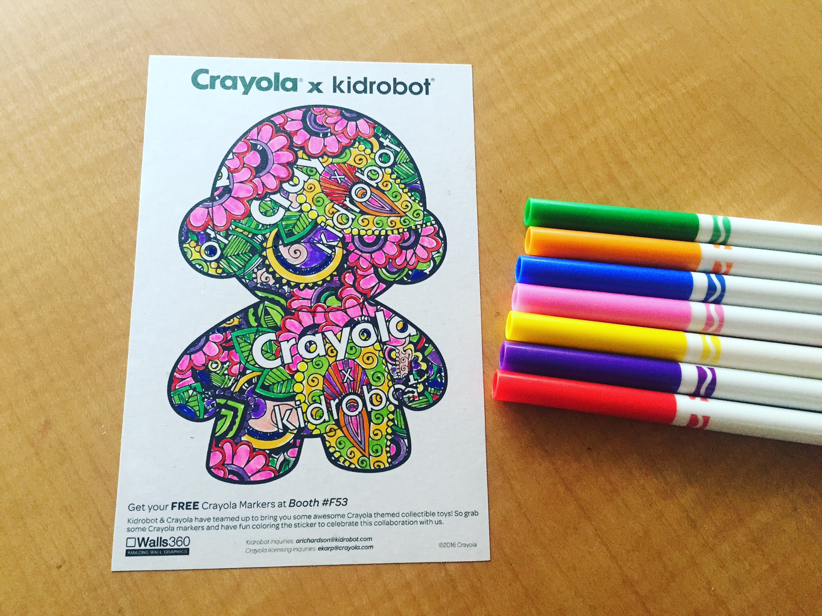 Walls360 custom COLORING wall graphics for Crayola x Kidrobot at #LicensingExpo16