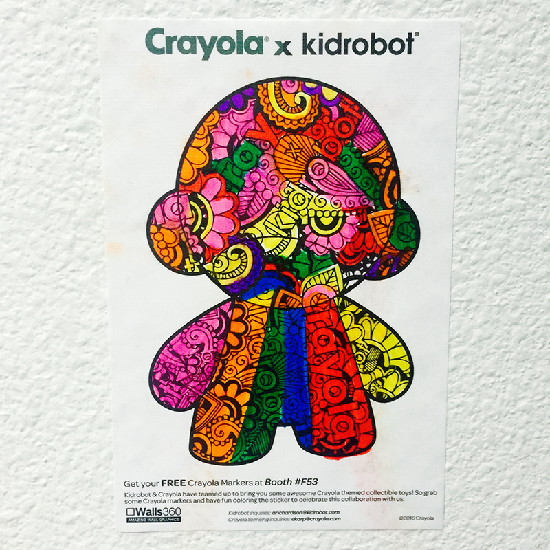 Walls360 created a collection of custom COLORING wall graphics for Crayola x Kidrobot at the Licensing Expo in Las Vegas.
