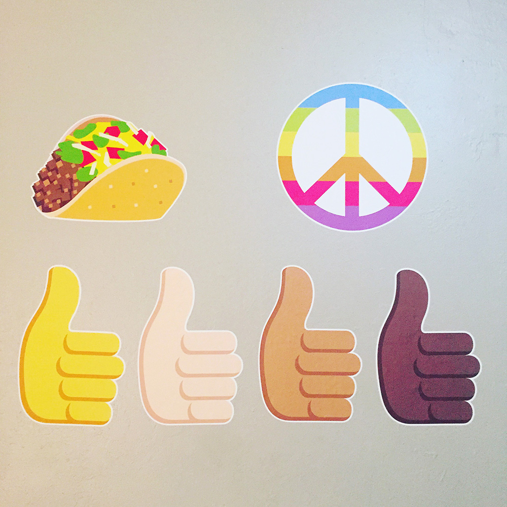 EmojiOne wall graphics from Walls360 + New COLORING Wall Emojis #EmojiOne #Walls360