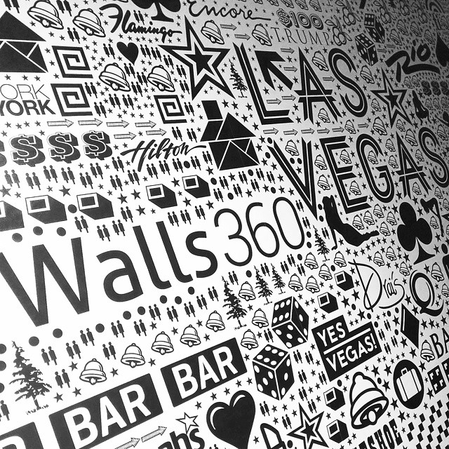 Walls360 custom wall-to-wall graphics for Neon Roots #NeonRoots #Begsonland