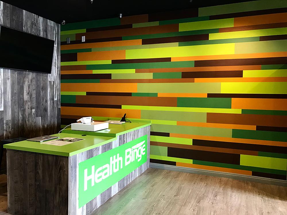 Walls360 custom wall-to-wall graphics for Health Binge