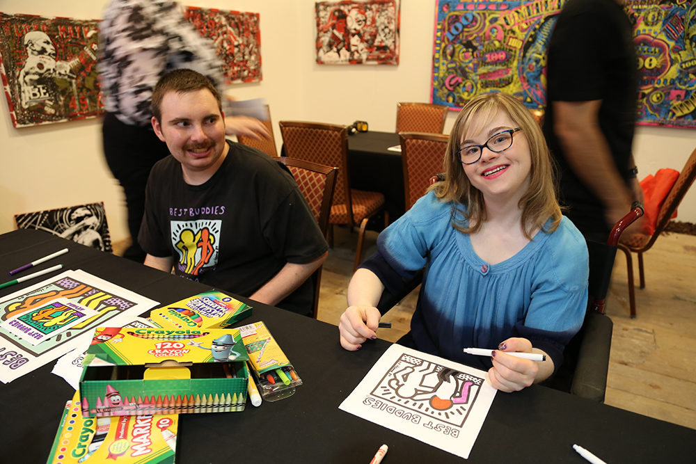 Best Buddies Nevada COLORING PARTY at Caesars Palace in Las Vegas #Walls360