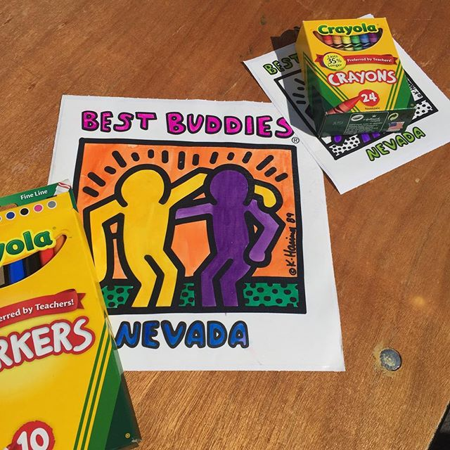 Best Buddies Nevada 2017 Friendship Walk COLORING PARTY at Caesars Palace in Las Vegas #Walls360