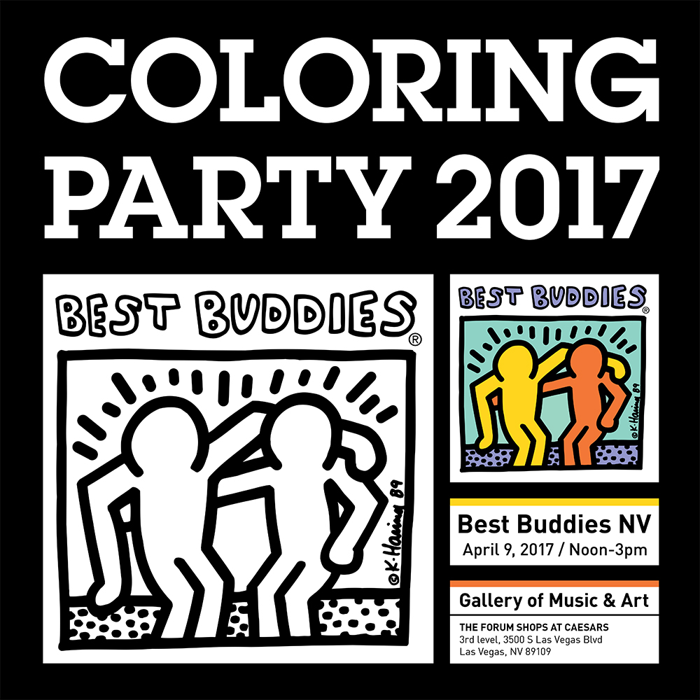 Best Buddies Nevada 2017 Friendship Walk COLORING PARTY at Caesars Palace in Las Vegas #Walls360