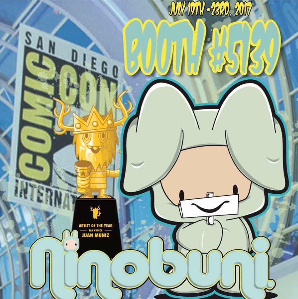 Walls360 custom wall graphics for Juan Muniz at Comicon 2017 #SDCC #SDCC2017 #NINOBUNI