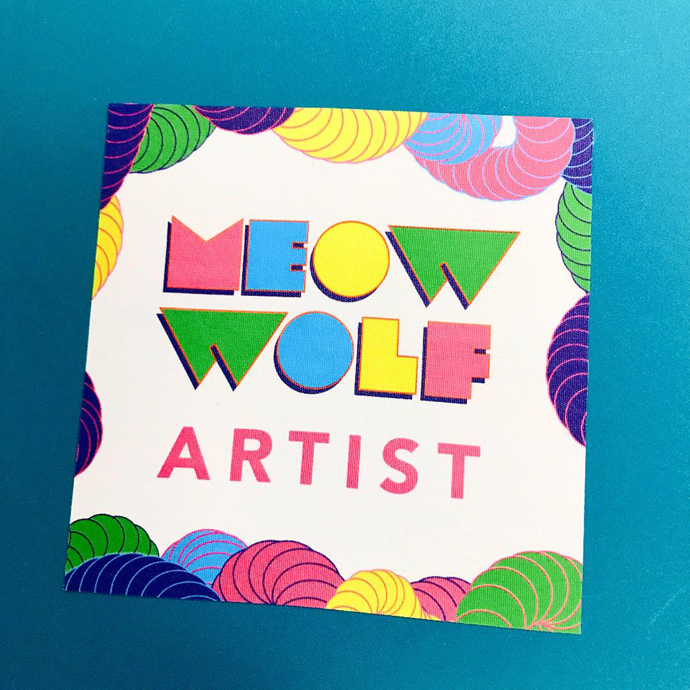 Walls360 custom wall graphics for Meow Wolf in Las Vegas #MeowWolf #ArtMotel