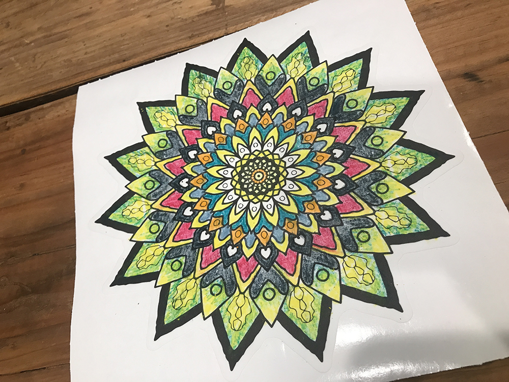 Walls360 custom COLORING graphics for Eden Art Therapy #Mandala #Coloring #WallGraphics