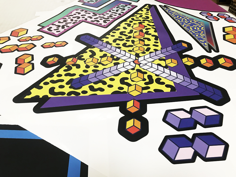 Walls360 custom wall graphics for Galaga World Championship 2018 at Meow Wolf in Santa Fe, New Mexico #MeowWolf #Galaga #ScoreWars