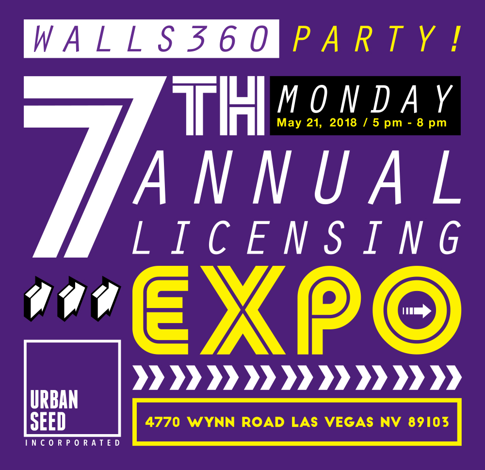 Walls360 LICENSING EXPO 2018 #Walls360 #UrbanSeed #LasVegas #Licensing2018 #CreativeStartups