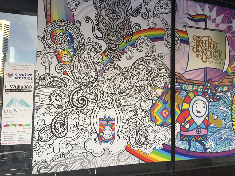 Walls360 Custom COLORING Graphics #DenverStartupWeek #CreativeStartups